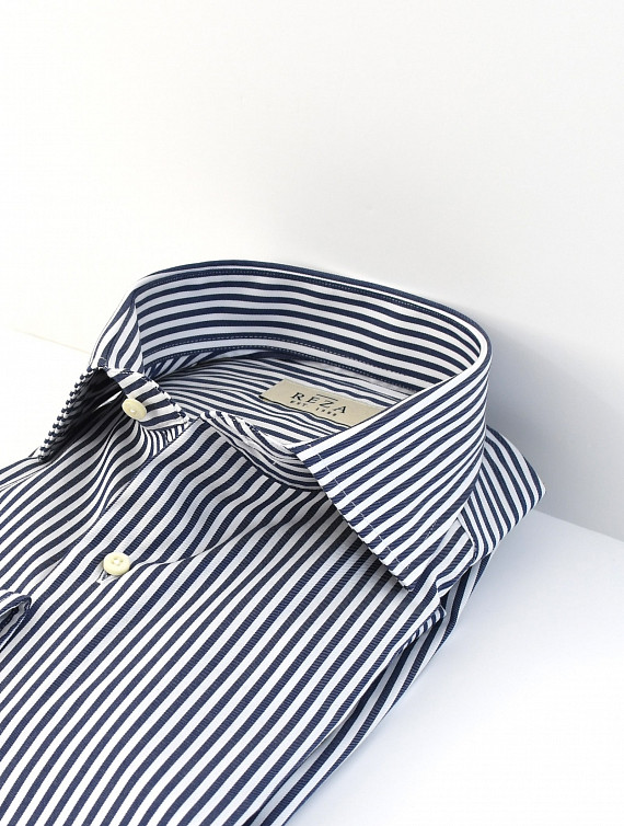 image: Leon shirt luxury twill stripe (0)