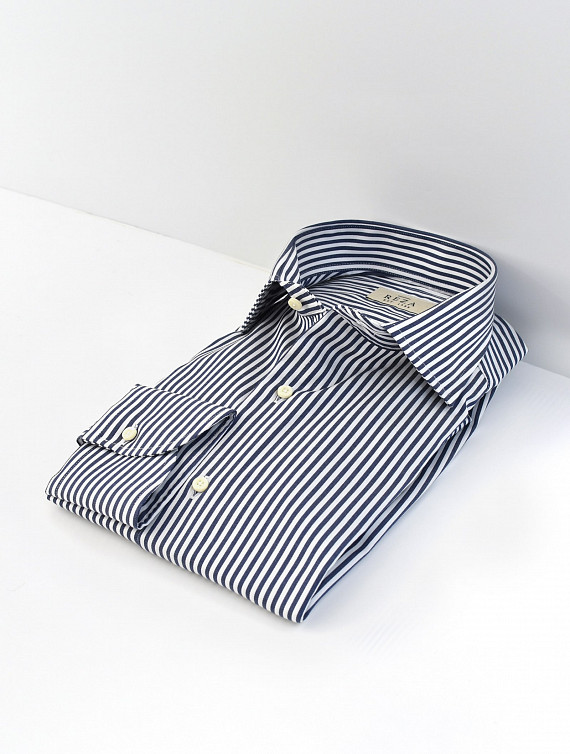 image: Leon shirt luxury twill stripe