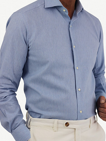 Leon shirt herringbone